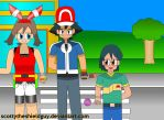 Ash and his friends get's Advance Awesome by scottytheshieldguy
