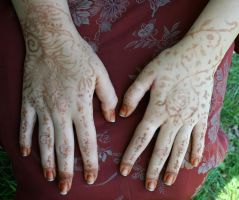 Henna Hands 1 by Falln-Stock