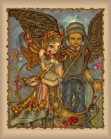 Fairy and angel and cat by Arzuza