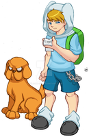 Finn and Jake of Adventure Time by wilson-go