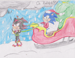 Sonic Clause and Shadolph by MsLunarUmbreon