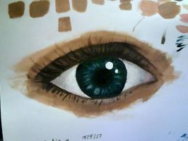 acrylic eye trial #1 by SOAP4410hh