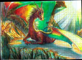 Rainbow dragon meets operator by spinoza1996