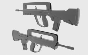 Famas - High Poly by thejohan