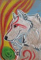 Amaterasu ACEO by Stormslegacy
