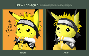 Draw this again: Pikaruto by MEGAMAN7659