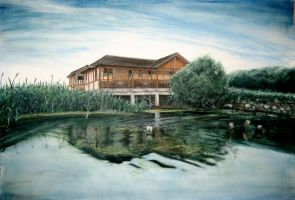 Old Chinese Lakehouse by OriginalCopyCat1874