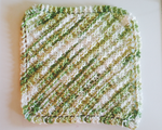 Green+white dishcloth by Wendifer