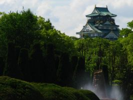 Japan - Osaka's castle by Alextasha