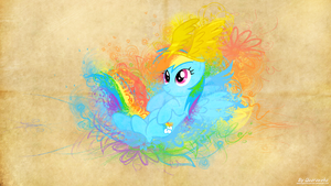 Parchment Splash | Rainbow by Paradigm-Zero