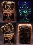 The Eye of Ra Zippo by Undead Ed Glows in the Dark by Undead-Art