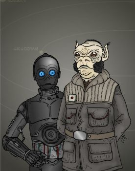Star Wars - Rebel officer and assistant by Konquistador