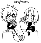 NaruSakuWeek . Can Phones by starchiishio