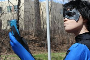 Nightwing: Let me take a Selfie by SkittsTheEchidna
