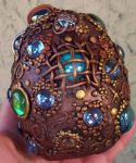 Mosaic dragon egg sculpture by MandarinMoon