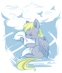 MLP- Derpy sleeps by caycowa