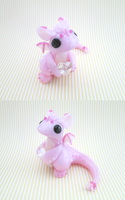 Pink Crystal Heart Dragon by KriannaCrafts