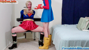 SuperGirl SuperWoman Gagged in boots Bound Peril by gogafetish