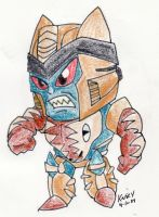Super-Deformed Dinobot by katiewhy