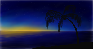 Sihouette Palm Tree by uneekL4evr