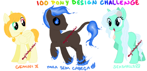MLP- 100 Pony Design Challenge #7-9 - CLOSED by MyLilAdoptables