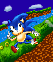 Classic Sonic by arielthealien