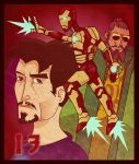 Ironman 3 FAN ART: Tony, Golden Suit and Mandarin by tarunbanned