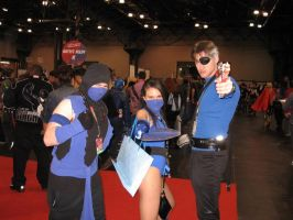 Sub-Zero, Kitana, Nick Fury by ruggala08