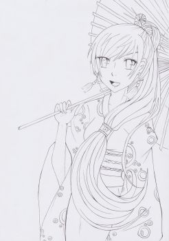Collaboration with Shiroichi Art | lineart by CrystalMelody-FT