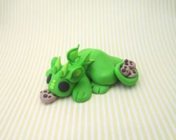 Green Cookie Hoarder Dragon by KriannaCrafts