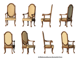 Free Stock PNG Same Chair 8 Views by ArtReferenceSource
