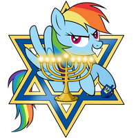 Rainbow Dash Happy Hanukkah by SouthParkTaoist