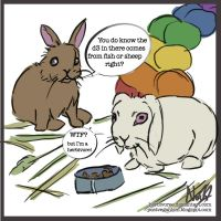 Most Rabbit Food Contains Fish by Herbivoree