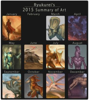 2015 summary of art by Ryukurei