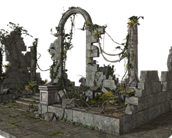 Free Stock PNG:  Jungle Ruins by ArtReferenceSource