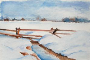 watercolor winter by Gh0st-0f-Me