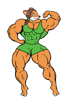 Muscular Lucy (tank top and shorts) (version 1) by Gabkat2007