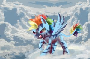 Zebra Rainbow Dash by SuperRobotRainbowPig