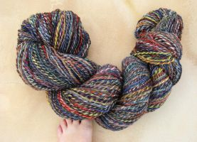 Huge Two Ply Skein by flufdrax