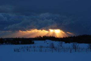 Light Breaking Through Winter Clouds by Emmwah