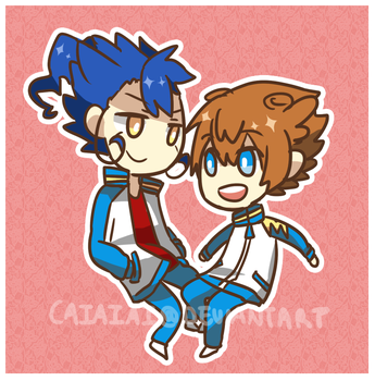 Tsurugi and Tenma by Caiaiai