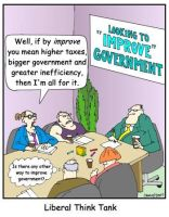 Liberal Think Tanks. by Conservatoons