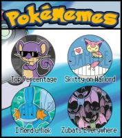 Pokemon Meme Badges by kappapillon