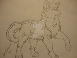 My wolf form by Kittylover1008