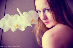 White Orchid by femketje