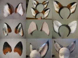Ear Commission Examples by CanineHybrid