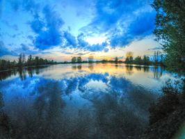 Wilne Lake - Sunset by teslaextreme