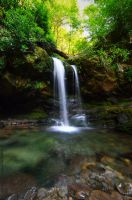 Grotto Falls by Enkased