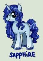 ENDS TODAY!: Draw to Adopt Sapphire Pony by xBeautifulDreamerx
