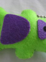 Neon bear keychain by P-isfor-Plushes